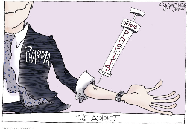 Signe Wilkinson S Editorial Cartoons Addiction Comics And Cartoons The Cartoonist Group