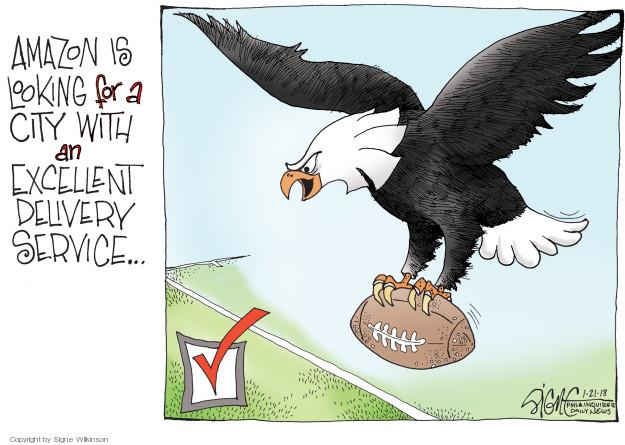 Cartoonist Signe Wilkinson  Signe Wilkinson's Editorial Cartoons 2018-01-21 NFL