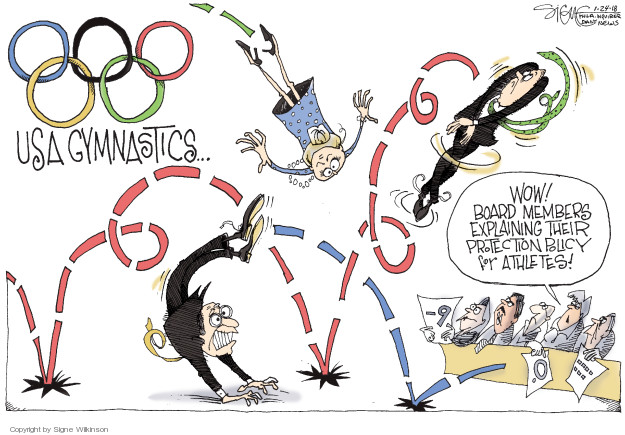 Cartoonist Signe Wilkinson  Signe Wilkinson's Editorial Cartoons 2018-01-24 athlete