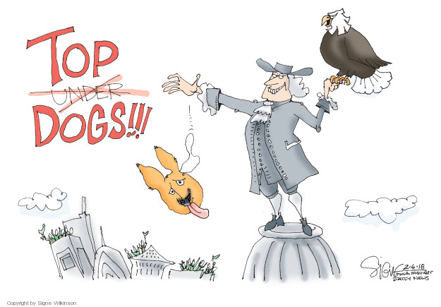 Cartoonist Signe Wilkinson  Signe Wilkinson's Editorial Cartoons 2018-02-06 Super Bowl