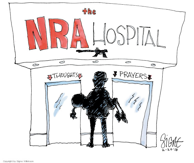 Signe Wilkinson  Signe Wilkinson's Editorial Cartoons 2018-02-20 NRA
