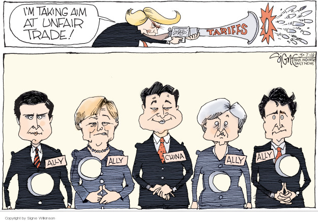 Signe Wilkinson  Signe Wilkinson's Editorial Cartoons 2018-03-07 union