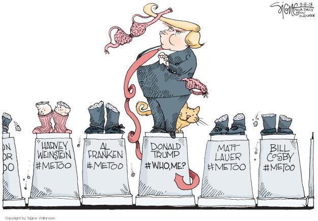 Cartoonist Signe Wilkinson  Signe Wilkinson's Editorial Cartoons 2018-03-08 equality