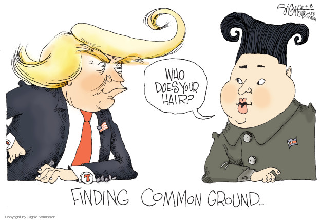 Cartoonist Signe Wilkinson  Signe Wilkinson's Editorial Cartoons 2018-03-11 nuclear