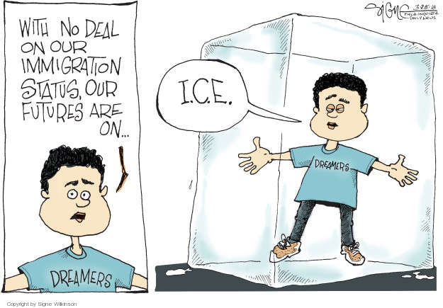 Signe Wilkinson  Signe Wilkinson's Editorial Cartoons 2018-03-25 ice