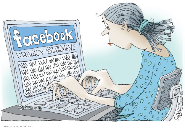 Signe Wilkinson  Signe Wilkinson's Editorial Cartoons 2018-03-30 internet privacy