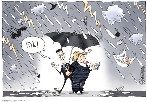 Cartoonist Signe Wilkinson  Signe Wilkinson's Editorial Cartoons 2018-04-14 political scandal