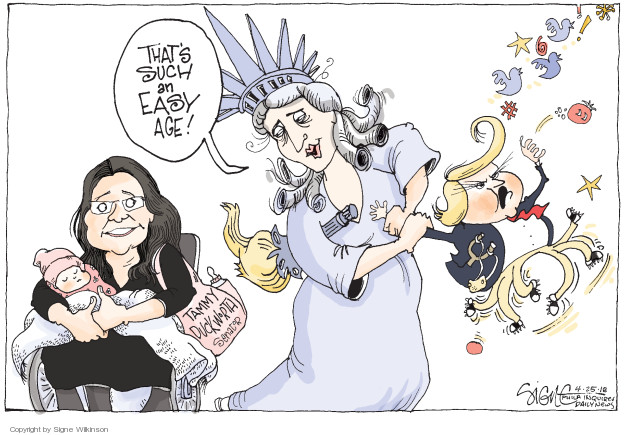 Cartoonist Signe Wilkinson  Signe Wilkinson's Editorial Cartoons 2018-04-25 political behavior
