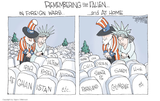Cartoonist Signe Wilkinson  Signe Wilkinson's Editorial Cartoons 2018-05-27 Iraq