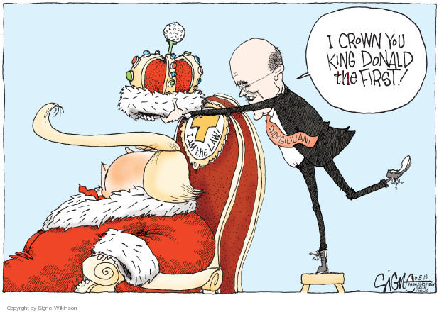 Signe Wilkinson  Signe Wilkinson's Editorial Cartoons 2018-06-05 Rudy Giuliani