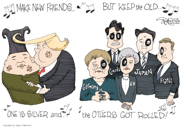 Cartoonist Signe Wilkinson  Signe Wilkinson's Editorial Cartoons 2018-06-17 editorial