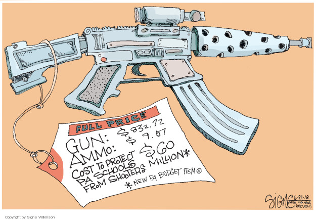 Cartoonist Signe Wilkinson  Signe Wilkinson's Editorial Cartoons 2018-06-21 ammo