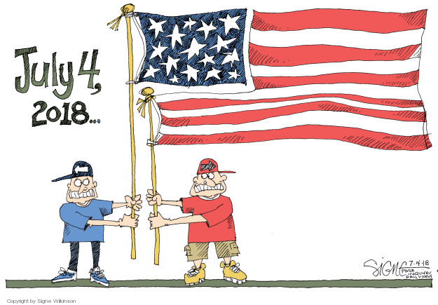 Cartoonist Signe Wilkinson  Signe Wilkinson's Editorial Cartoons 2018-07-04 editorial