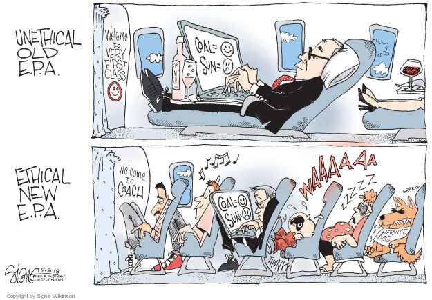 Cartoonist Signe Wilkinson  Signe Wilkinson's Editorial Cartoons 2018-07-08 editorial staff