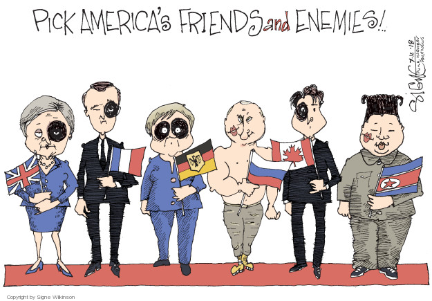 Cartoonist Signe Wilkinson  Signe Wilkinson's Editorial Cartoons 2018-07-12 Russia
