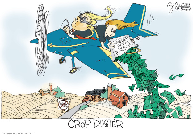 Signe Wilkinson  Signe Wilkinson's Editorial Cartoons 2018-07-30 Donald Trump farmer