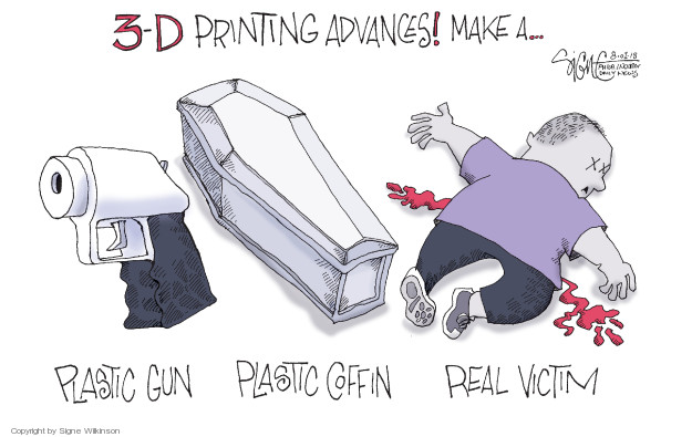 Cartoonist Signe Wilkinson  Signe Wilkinson's Editorial Cartoons 2018-08-01 weaponry