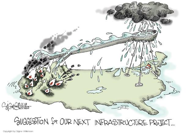 Signe Wilkinson  Signe Wilkinson's Editorial Cartoons 2018-08-15 infrastructure