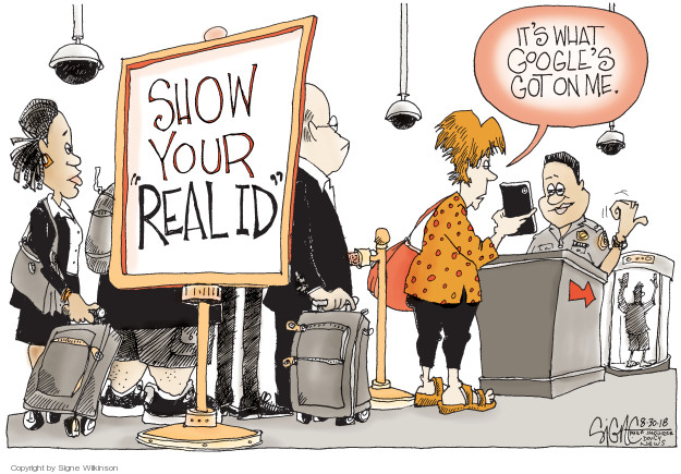 Signe Wilkinson  Signe Wilkinson's Editorial Cartoons 2018-08-30 internet privacy