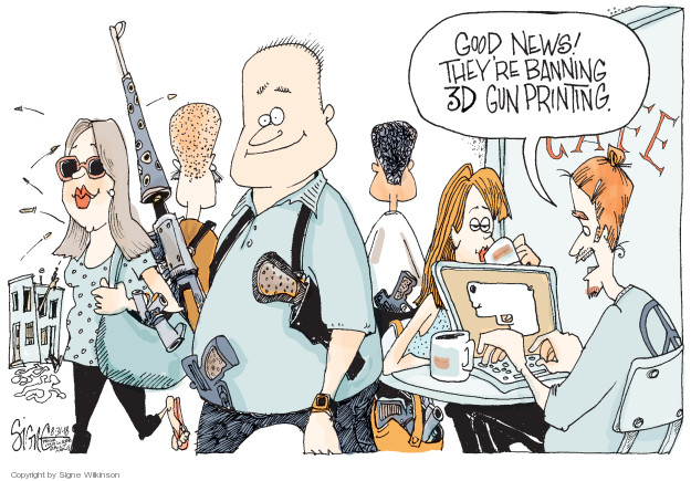 Cartoonist Signe Wilkinson  Signe Wilkinson's Editorial Cartoons 2018-08-31 NRA