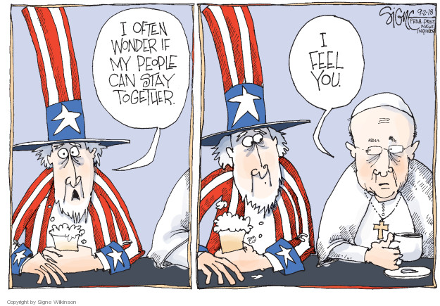Cartoonist Signe Wilkinson  Signe Wilkinson's Editorial Cartoons 2018-09-02 political behavior