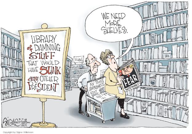 Signe Wilkinson  Signe Wilkinson's Editorial Cartoons 2018-09-07 journalism