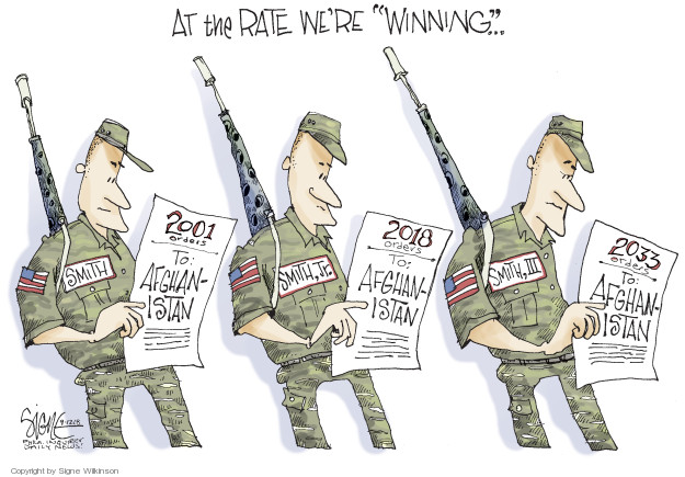 Cartoonist Signe Wilkinson  Signe Wilkinson's Editorial Cartoons 2018-09-12 armed forces