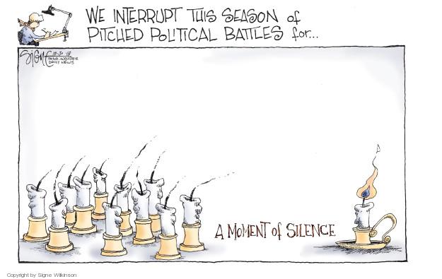 Cartoonist Signe Wilkinson  Signe Wilkinson's Editorial Cartoons 2018-10-30 gun massacre
