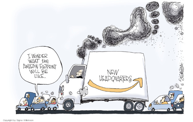Cartoonist Signe Wilkinson  Signe Wilkinson's Editorial Cartoons 2018-11-14 transportation