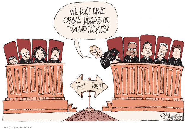 Cartoonist Signe Wilkinson  Signe Wilkinson's Editorial Cartoons 2018-11-29 Supreme Court