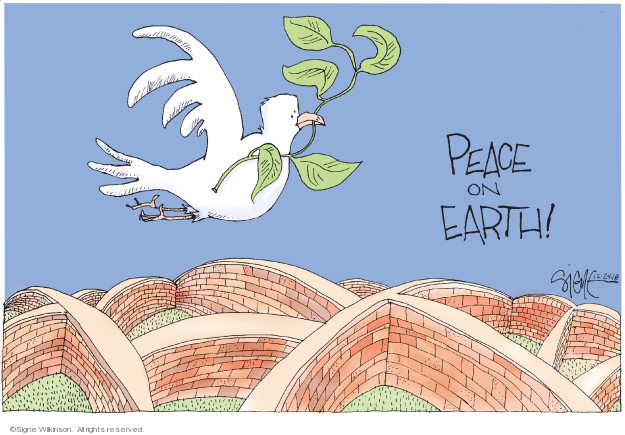 Signe Wilkinson  Signe Wilkinson's Editorial Cartoons 2018-12-24 wall