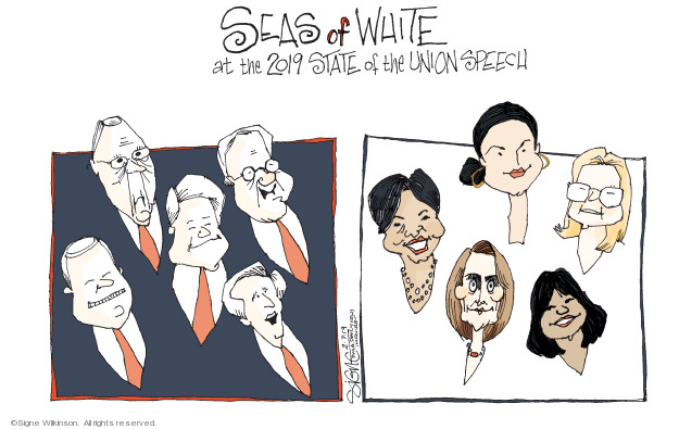 Seas of White at the 2019 State of the Union speech.