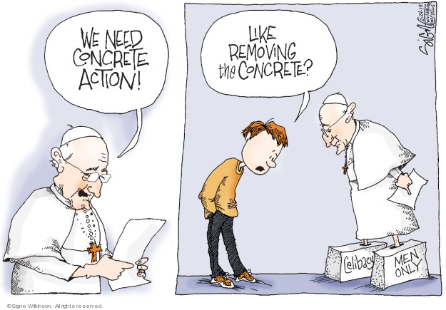 Signe Wilkinson  Signe Wilkinson's Editorial Cartoons 2019-02-24 political scandal