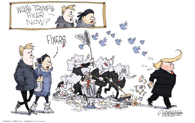 Whos Trumps fixer now? Fixers.