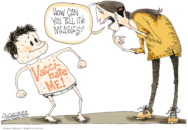 Cartoonist Signe Wilkinson  Signe Wilkinson's Editorial Cartoons 2019-03-13 vaccine