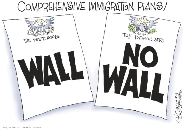 Signe Wilkinson  Signe Wilkinson's Editorial Cartoons 2019-04-05 wall