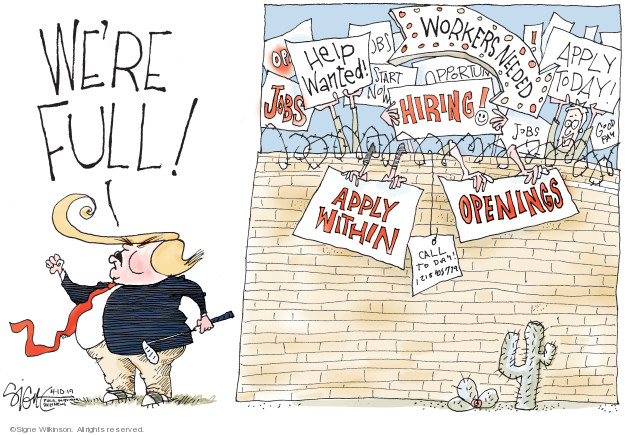 Signe Wilkinson  Signe Wilkinson's Editorial Cartoons 2019-04-10 wall