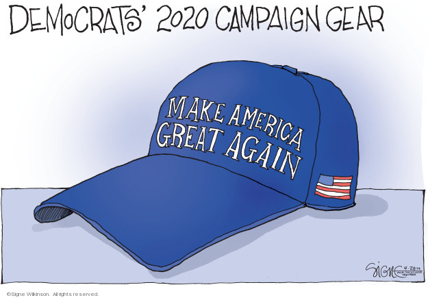 Cartoonist Signe Wilkinson  Signe Wilkinson's Editorial Cartoons 2019-04-28 candidate