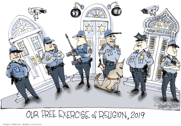 Cartoonist Signe Wilkinson  Signe Wilkinson's Editorial Cartoons 2019-05-05 gun rights