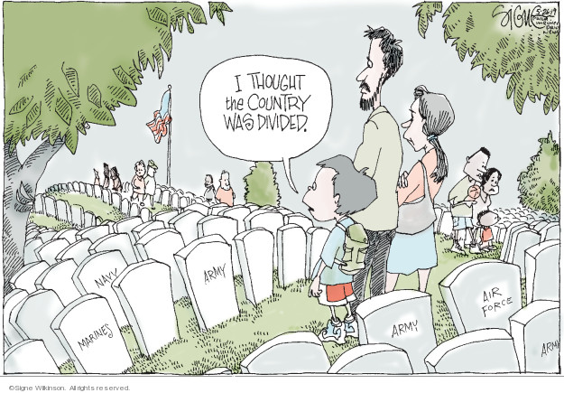 Cartoonist Signe Wilkinson  Signe Wilkinson's Editorial Cartoons 2019-05-26 armed forces