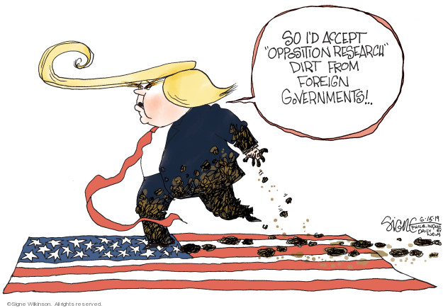 Signe Wilkinson  Signe Wilkinson's Editorial Cartoons 2019-06-15 2016 Election Russian Interference