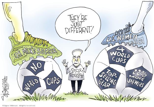 Cartoonist Signe Wilkinson  Signe Wilkinson's Editorial Cartoons 2019-07-11 team sport