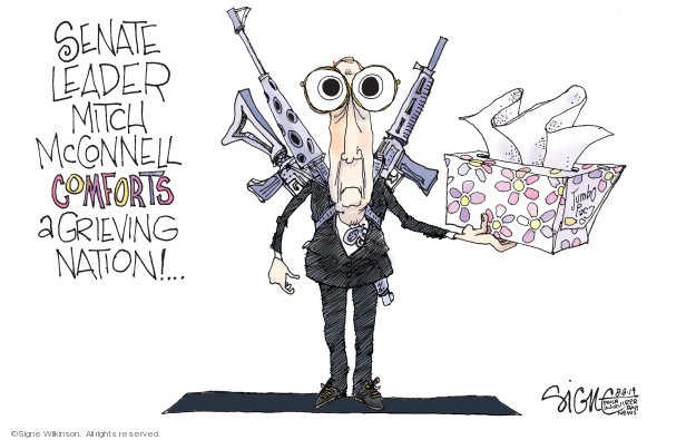 Cartoonist Signe Wilkinson  Signe Wilkinson's Editorial Cartoons 2019-08-08 gun