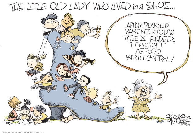 Cartoonist Signe Wilkinson  Signe Wilkinson's Editorial Cartoons 2019-08-22 health care
