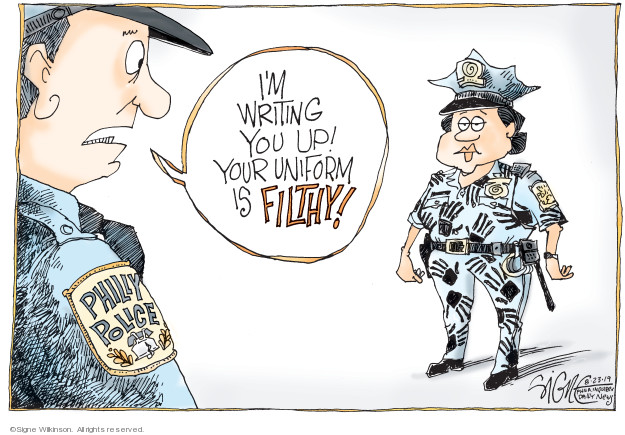 Cartoonist Signe Wilkinson  Signe Wilkinson's Editorial Cartoons 2019-08-23 Philadelphia