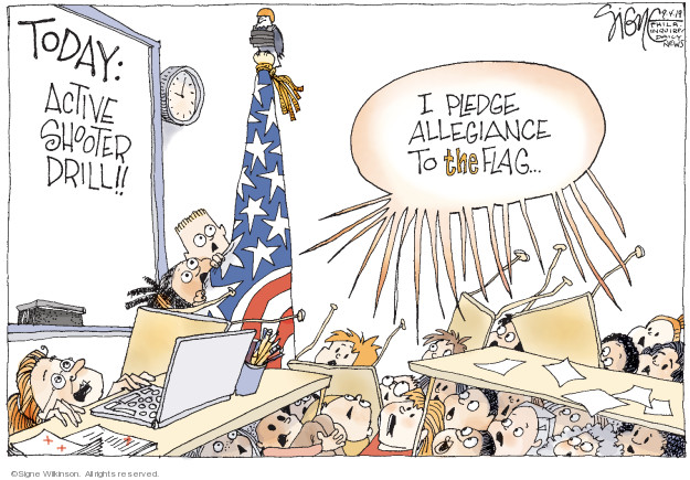 Cartoonist Signe Wilkinson  Signe Wilkinson's Editorial Cartoons 2019-09-04 gun rights