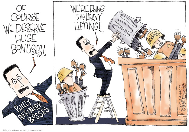 Cartoonist Signe Wilkinson  Signe Wilkinson's Editorial Cartoons 2019-09-12 labor