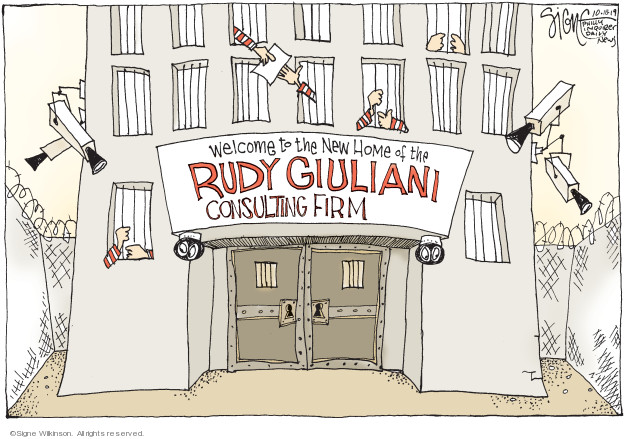 Signe Wilkinson  Signe Wilkinson's Editorial Cartoons 2019-10-18 political scandal