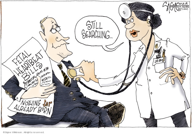 Cartoonist Signe Wilkinson  Signe Wilkinson's Editorial Cartoons 2019-11-03 health care