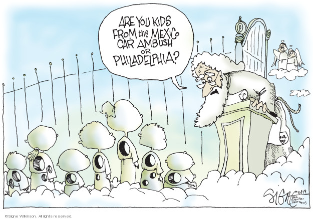 Signe Wilkinson  Signe Wilkinson's Editorial Cartoons 2019-11-08 shooting